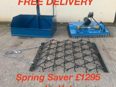 Spring Saver Combo Deal £1295 Inc vat 4ft topper,4ft Linkbox,4ft Chain harrows Free Delivery