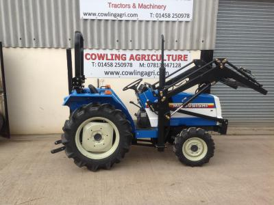 Mitsubishi Compact Tractor MT1601DT tractor & front Loader