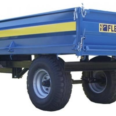 "Fleming 4 Ton Tipping trailer 10x6 with 18"" sides"